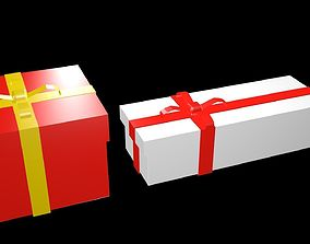 Low poly Gifts Boxes 1 3D model