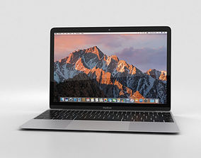 Apple MacBook 2017 Silver 3D model