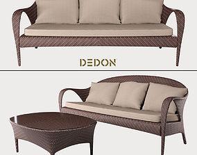 3-Seater Sofa collection Tango Dedon 3D model