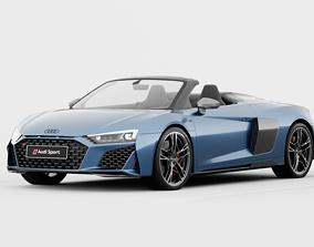 Audi R8 Spyder 2020 DETAILED INTERIOR 3D detailed