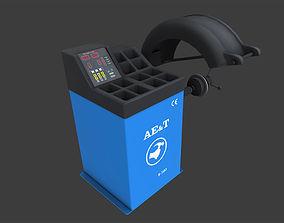 Tire Balancing Machine 3D asset