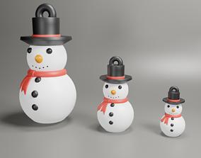 3D printable model snow man christmas deco