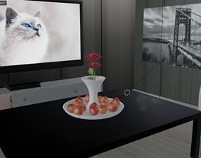 3D model Isometric Living Room