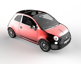3D asset low-poly Fiat 500 - Sweet Styling