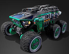 3D model Mars Rover vehicle