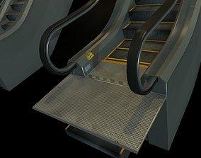 3D asset Escalators various sizes