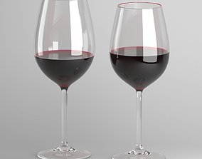 Red Wine Glass 3D model drink