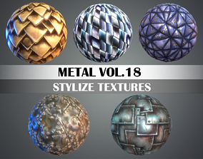 Stylized Metal Vol 18 - Hand Painted Texture Pack 3D asset