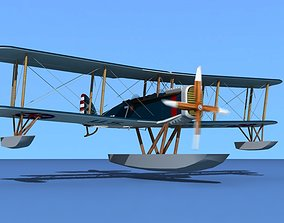 3D model Airco DH-4 US Marines Sea Plane