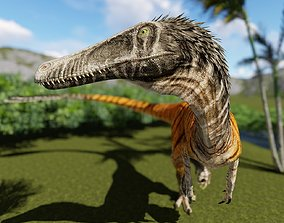 animated Austroraptor 3D Model With Animation Game Ready 1