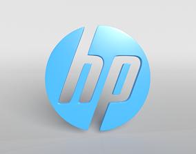 3D asset HP Logo Version1 001