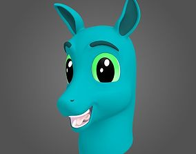 3D Horse Character Bust - Animated