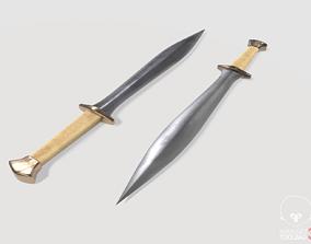 Dagger knife 3D model VR / AR ready