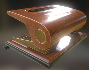 Hole Punch Wood Version 1 Rigged And Animated - 3D asset 2