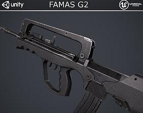 FAMAS G2 Rifle 3D asset