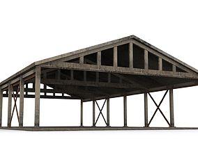Hangar industrial-building 3D model