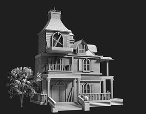 3D asset Halloween Haunted House