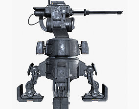 Turret Game Ready PBR Textures 3D asset