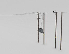 british Telegraph pole pack 3D model