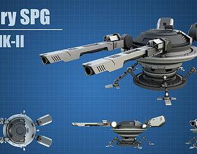 3D model Military SPG