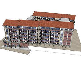 Office-Teaching Building-Canteen 73 3D model