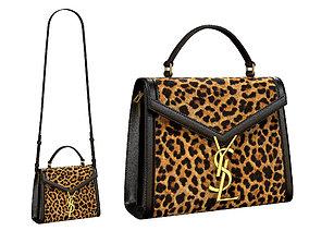 YSL Saint Laurent Cassandra Mini Top Bag Leopard 3D model
