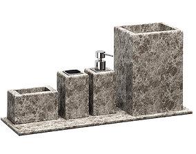 3D model ZARA HOME MARBLE BATHROOM ACCESSORIES