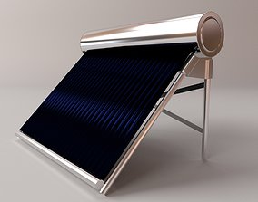 3D model Water Heating Solar Panel