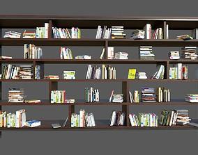 Book Shelf with Books 3D model