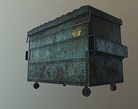 3D model PBR Dirty Dumpster