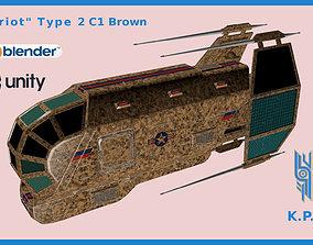 3D model Spaceship Patriot Type 2 C1 Brown