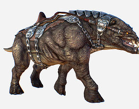 3D model Creature mount Mastodont PBR