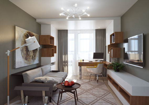 Apartment in Rostov-on-Don. Guest room-study.