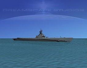 3D Gato Class Submarine SS-213 USS Greenling
