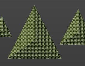 3D Pyramid pendant