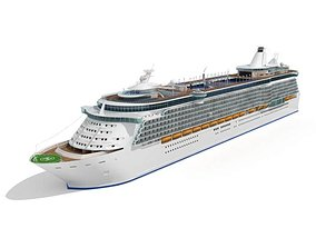 White Cruise Yacht 3D