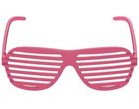 Shutter Glasses Pink 3D model