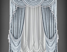 game-ready Curtain 3D model 350