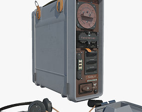 Military radio station Fundfu 3D model