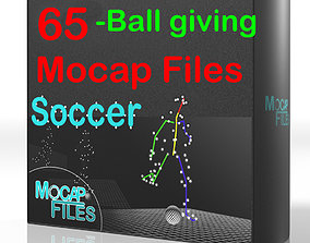 3-Soccer football motion capture animations - 3D model 2