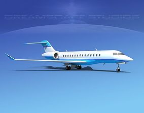 3D Bombardier Global 5000 V14