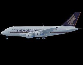 3D model Singapore Airlines A380