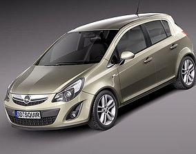 3D Opel Corsa 5door