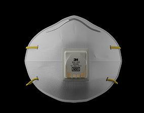 3D asset N95 Mask respirator model protection
