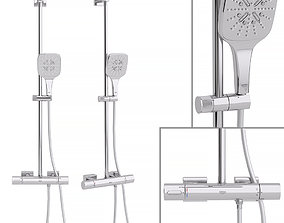 3D model Shower system Grohe Rainshower Smartactive Cube