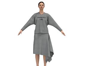 3D model design skirt and t-shirt