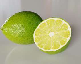 Citrus lemon fruit 3D