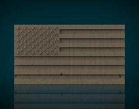 American Flag 3D print model