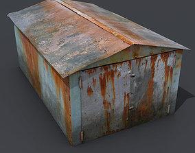 Metal garage 3D model