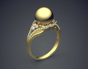 Engagement Ring With Diamonds CAD-4984 3D printable model